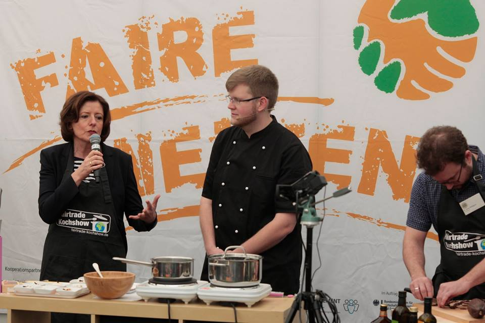 Fair Trade Kochshow mit Malu Dreyer