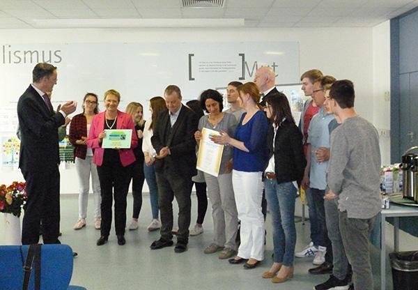 Preisübergabe Fairtrade School
